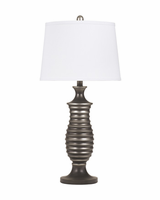 Rory - L202904 - Metal Table Lamp (2/CN) - Antique Silver Finish