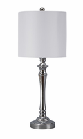 Taji - L204004 - Metal Table Lamp (2/CN) - Chrome Finish