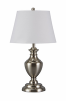Takoda - L204014 - Metal Table Lamp (2/CN) - Brushed Silver Finish