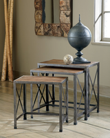 Vennilux - T500-716 - Nesting End Tables (3/CN) - Gray/Brown