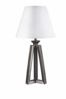 Sidony - L856304 - Poly Table Lamp (1/CN) - Metallic Gray