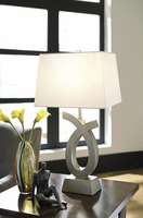 Amayeta - L243134 - Poly Table Lamp (2/CN) - Silver Finish