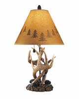 Derek - L316984 - Poly Table Lamp (2/CN) - Brown
