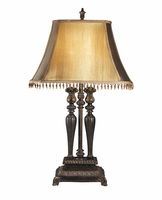Desana - L370974 - Poly Table Lamp (2/CN) - Dark Brown/Gold Finish