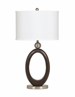 Meckenzie - L419994 - Poly Table Lamp (2/CN) - Brown/Silver Finish