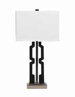 Mitzi - L417294 - Poly Table Lamp (2/CN) - Black/Silver Finish