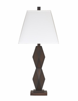 Natane - L292154 - Poly Table Lamp (2/CN) - Dark Brown