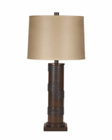 Oriel - L311154 - Poly Table Lamp (2/CN) - Antique Copper Finish