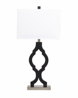 Rosetta - L422294 - Poly Table Lamp (2/CN) - Black/Silver Finish