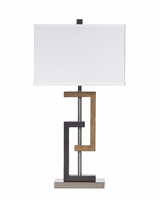 Syler - L405284 - Poly Table Lamp (2/CN) - Brown/Silver Finish