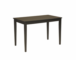 Kimonte - D250-25 - Rectangular Dining Room Table - Dark Brown
