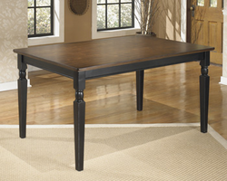 Owingsville - D580-25 - Rectangular Dining Room Table - Black/Brown