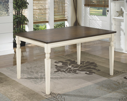 Whitesburg - D583-25 - Rectangular Dining Room Table - Brown/Cottage White