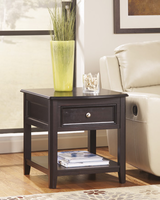 Carlyle - T771-3 - Rectangular End Table - Almost Black