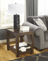 Grinlyn - T660-3 - Rectangular End Table - Rustic Brown