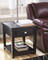 Hatsuko - T864-3 - Rectangular End Table - Dark Brown