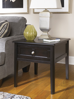 Henning - T479-3 - Rectangular End Table - Almost Black