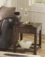 Marion - T477-3 - Rectangular End Table - Dark Brown