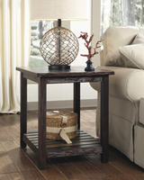Mestler - T580-3 - Rectangular End Table - Rustic Brown