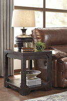 Rogness - T745-3 - Rectangular End Table - Rustic Brown