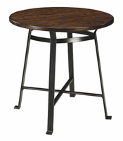 Challiman - D307-12 - Round Dining Room Bar Table - Rustic Brown