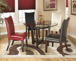 Charrell - D357-15 - Round Dining Room Table - Medium Brown