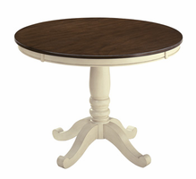 Whitesburg - D583-15T - Round Dining Room Table Top - Brown/Cottage White