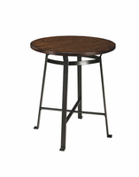Challiman - D307-13 - Round DRM Counter Table - Rustic Brown