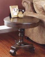 Brookfield - T496-6 - Round End Table - Dark Brown