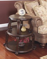 Brookfield - T496-2 - Round End Table - Dark Brown