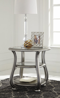 Coralayne - T820-6 - Round End Table - Silver Finish