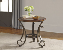 Gambrey - T626-6 - Round End Table - Reddish Brown
