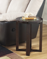Marion - T477-6 - Round End Table - Dark Brown