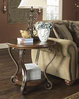 Nestor - T517-6 - Round End Table - Medium Brown