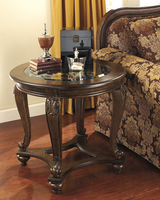 Norcastle - T499-6 - Round End Table - Dark Brown