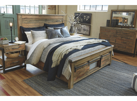 ASHLEY SOMMERFORD BROWN QUEEN STORAGE BED