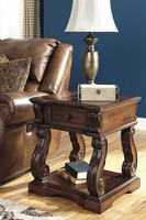 Alymere - T869-2 - Square End Table - Rustic Brown