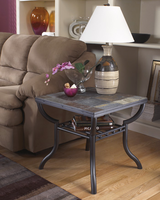 Antigo - T233-2 - Square End Table - Black