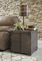 Burladen - T846-2 - Square End Table - Grayish Brown
