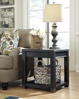Gavelston - T732-2 - Square End Table - Black