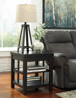 Gavelston - T752-2 - Square End Table - Rubbed Black