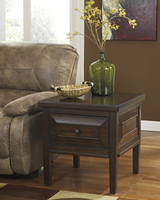 Hindell Park - T695-2 - Square End Table - Rustic Brown