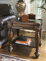 Mantera - T616-2 - Square End Table - Dark Rustic Brown