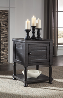 Sharlowe - T835-2 - Square End Table - Charcoal