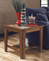 Toscana - T353-2 - Square End Table - Rustic Brown