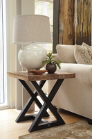 Wesling - T873-2 - Square End Table - Light Brown