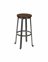 Challiman - D307-130 - Tall Stool (2/CN) - Rustic Brown
