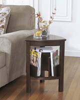 Larimer - T654-6 - Triangle End Table - Dark Brown