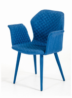 Astoria - Modern Blue Fabric Dining Chair (Set of 2)
