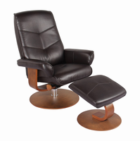 Auburn Ultra Synthetic, Java, Swivel Recliner Chair & Ottoman